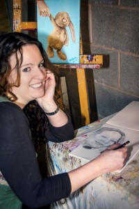 Ella Hendy, Ella art, Bunny, painting, sketch, artist, Banbury, Rachel Prew Photography