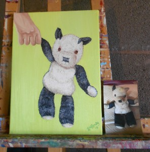 Ella Hendy, Ella art, panda, oil paints, original art, Banbury, artisit, commission, commissionable artist