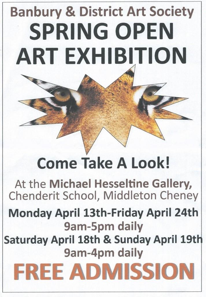 Banbury, Art, Banbury Art Sociey, Banbury and District Art Society, BDAS, Hessletine Gallery, Exhibition, Middleton Cheney
