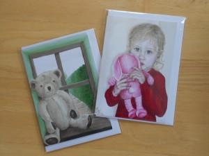 Ella art, Ella Hendy, art cards, greetings card, portrait print