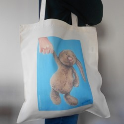 Ella art, Ella Hendy, bunny, bag, Banbury, artist, shopping