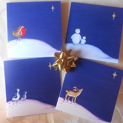 Ella art, Ella Hendy, Banbury, artist, Oxfordshire, Christmas, Artweeks, cards