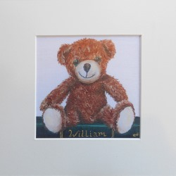 Ella Hendy, Ella art, teddy, name, personalised, print, Banbury, artist
