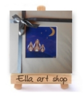 Ella art, Ella art shop, online shop, prints, cards, Ella Hendy, bunnies, stars