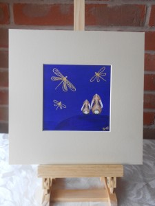 Ella art, Dragonflies, bunnies, gold, art, print, children's hospice South West, charity, Ella Hendy