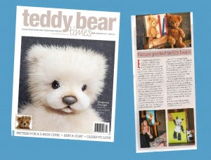 Ella Hendy, Ella art, Banbury, artist, teddy, painting, Teddy Bear Times, magazine