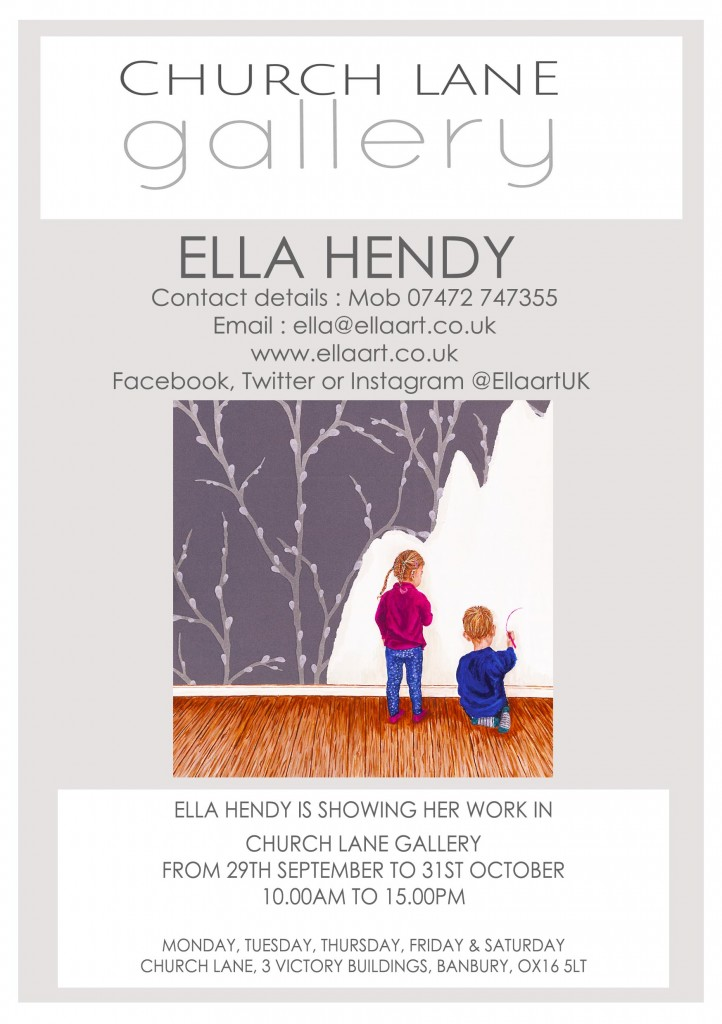 Ella Hendy, Ella art, Banbury, Oxfordshire, artist, Church Lane Gallery, Gallery, Banbury Old Town, art