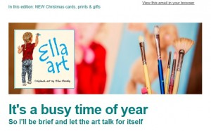 Ella Hendy, Ella art, newsletter, Banbury, Oxfordshire, artist