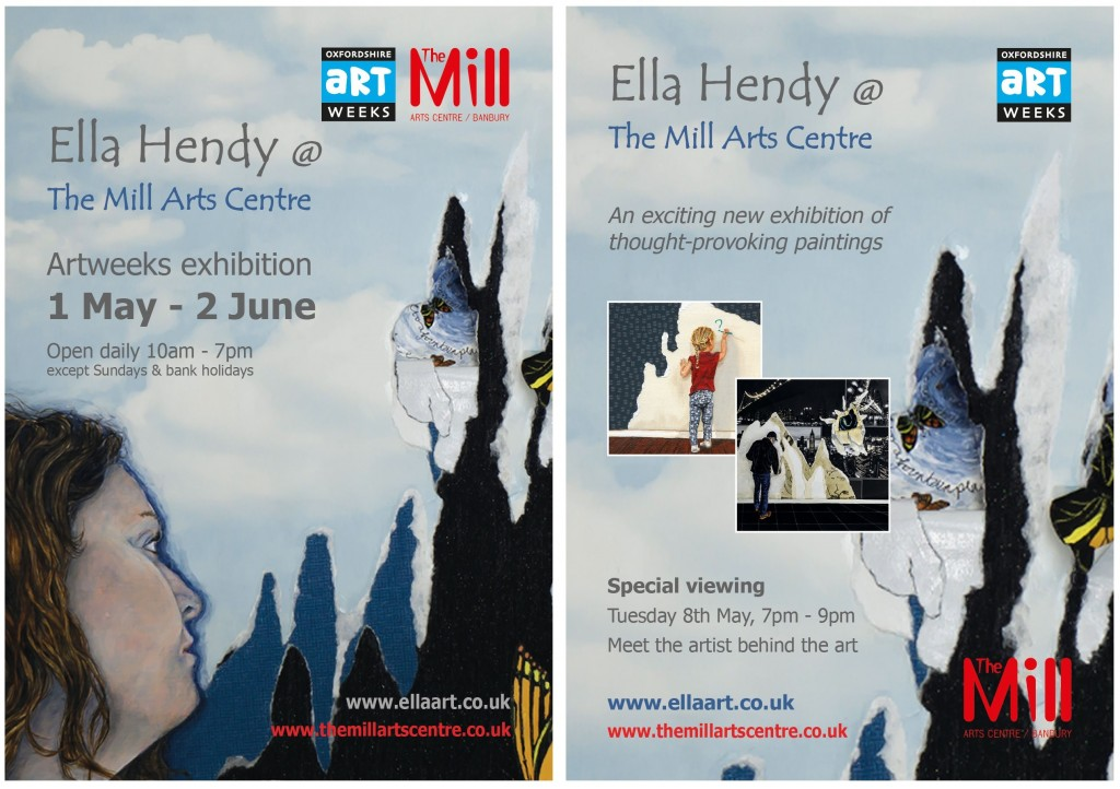 Ella Hendy, Ella art, Banbury, art, artist, The Mill Arts Centre, Oxfordshire, Artweeks, exhibition